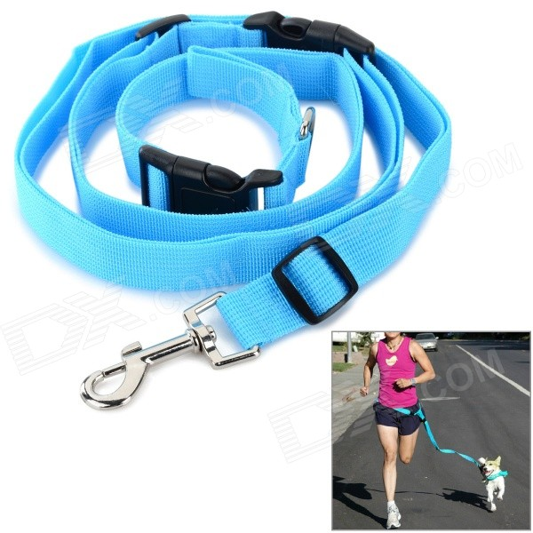 Adjustable Nylon Strap Leash for Pet Dog - Blue adjustable nylon strap leash for pet dog black