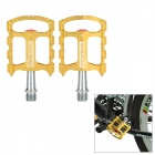 CYCLETRACK CK-109 Lightweight CNC Aluminum Bicycle Pedals - Gold (2 PCS)