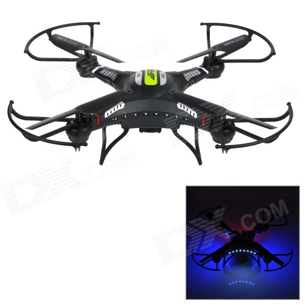 JJRC H8C 2.4GHz 4-CH 6-Axis Gyro R/C Quadcopter Aircraft Toy w/ 2.0MP HD Camera - Black