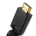360 Degrees Rotating HDMI Male to Female Adapter - Black