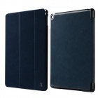 Baseus Protective Leather Case w/ Stand for IPAD AIR 2 - Dark Blue