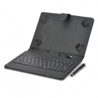 "USB Wired 80-Key Keyboard w/ Case for Samsung 7"" Tablet PC - Black"