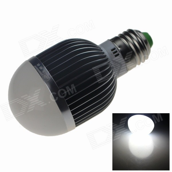 ZHISHUNJIA E27 12W LED Neutral White Light Bulb - Silver + White