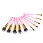 MeGooDo CB82054 10-in-1-professionellen Kosmetik Make-up Pinsel Set Kit - Pink + Gold