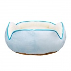 YDL-WJ4004-L Muodikas Waves Style Bed w / Tyyny Pet Cat / Dog - Blue + monivärisiä (L)