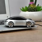 Creative Car Model Style USB Wired 1000dpi Mouse - Silver + Black