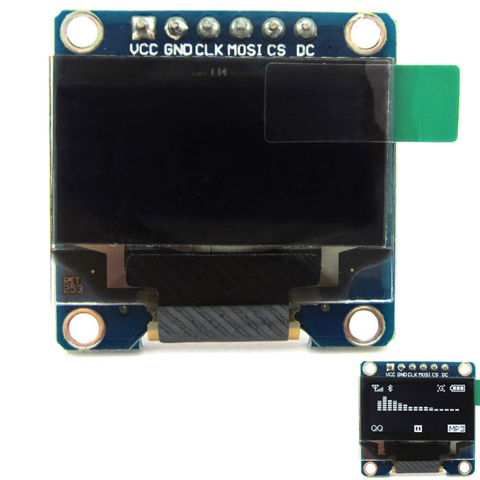 0.96 128 x 64 White Color OLED Display Module w/ SPI Interface for Arduino / RPi / AVR / ARM / PIC 0 96 128 x 64 white color oled display module w spi interface for arduino rpi avr arm pic