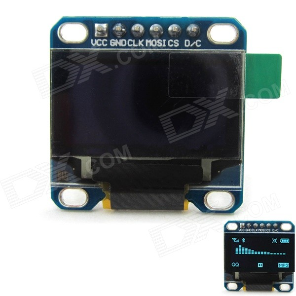 0.96 128 x 64 Blue Color OLED Display Module w/ SPI Interface for Arduino / RPi / AVR / ARM / PIC 0 96 128 x 64 white color oled display module w spi interface for arduino rpi avr arm pic