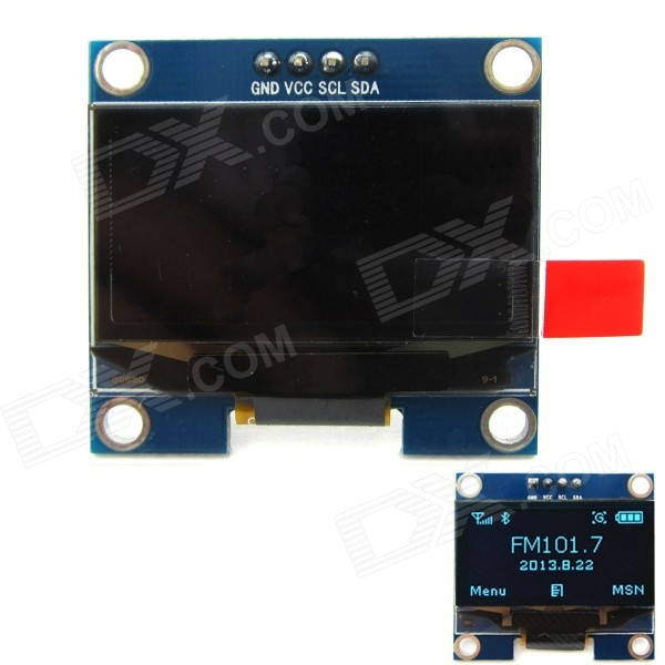 1.3'' 128 x 64 Blue Color OLED Display Module w/ I2C Interface for Arduino / RPi / AVR / ARM / PIC 0 96 128 x 64 white color oled display module w spi interface for arduino rpi avr arm pic