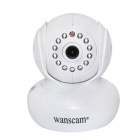 "Wanscam JW0005 0.3MP 1/4 ""CMOS draadloze Wi-Fi IP Camera w / 13-IR LED, TF - Wit (EU Plug)"