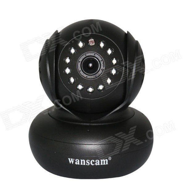 Wanscam JW0005 0.3MP 1/4 CMOS Wireless Wi-Fi IP Camera w/ 13-IR LED, TF - Black (EU Plug) wanscam jw0004 1 4 cmos 0 3mp wireless p2p indoor ip camera w 13 ir led wi fi white eu plug