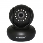 "Wanscam JW0005 0.3MP 1/4"" CMOS Wireless Wi-Fi IP Camera w/ 13-IR LED, TF - Black (UK Plug)"