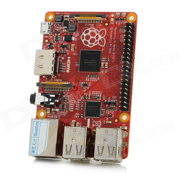Raspberry PI B+ 512MB Board w/ HDMI / USB 2.0 / Micro USB / TF / 3.5mm Jack - Red ssk scrm 060 multi in one usb 2 0 card reader for sd ms micro sd tf white