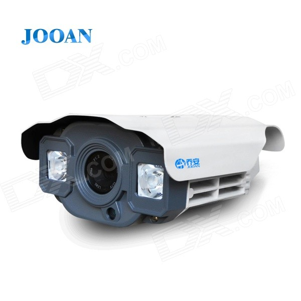 JOOAN JA-513CRF Waterproof 1/3'' SONY 1200TVL Surveillance CCTV Camera w/ OSD Menu, 2-IR LED - White zea afs011 600tvl hd cctv surveillance camera w 36 ir led white pal