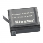 Kingma AHDBT-401 US Plugss Charger + 1060mAh Battery + Car Charger + EU Adapter Kit for GoPro Hero 4