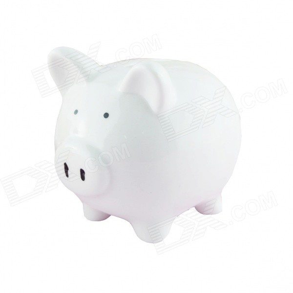 FEIS CQ 1001 Cute Piggy Style Ceramics Coin Bank - White