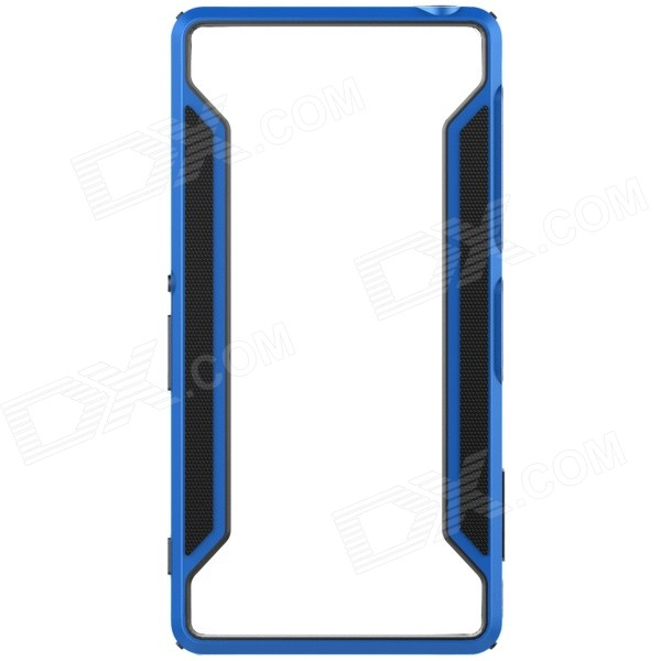 NILLKIN Protective TPU + PC Bumper Frame Case for Sony Xperia Z3 - Black + Blue protective pc tpu bumper frame case for sony xperia z1 l39h orange transparent