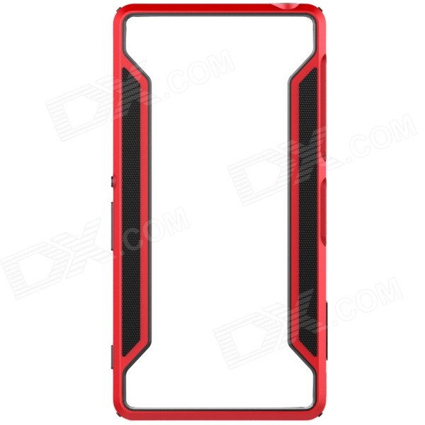 NILLKIN Protective TPU + PC Bumper Frame Case for Sony Xperia Z3 - Black + Red protective pc tpu bumper frame case for sony xperia z1 l39h orange transparent
