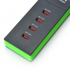 Vina Portable Smart 20W 5A High Speed 4-Port USB Fast Charger for Smartphone/ Tablets/ Gopro (EU)