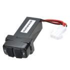 12V~24V to 5V / 2.1A 2-Port USB 2.0 Vehicle Car Power Inverter Converter for Mitsubishi - Black