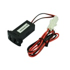12V~24V to 5V / 2.1A 2-Port USB 2.0 Vehicle Car Power Inverter Converter for Mazda - Black