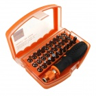 31-in-1 Anti Drop High-altitude Professional Screwdriver Set - Orange + Black +Silver