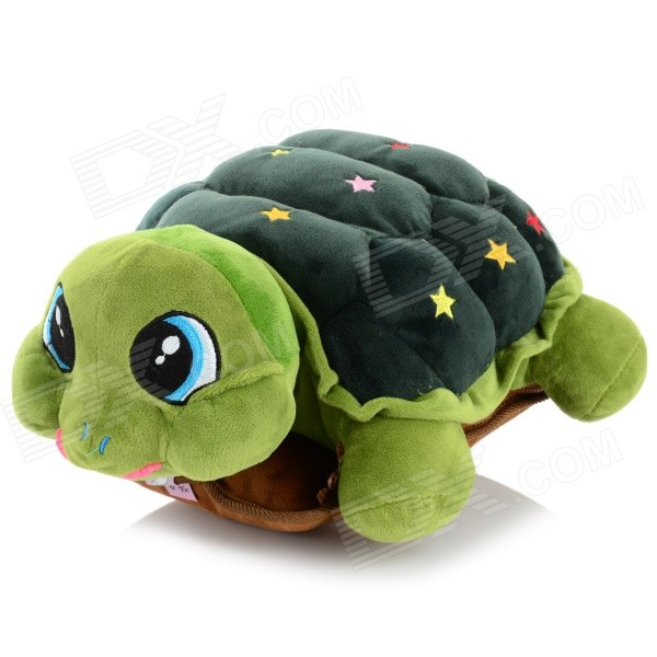Cute Tortoise Style Plush Hand Warmer - Deep Green (Cable-100cm) soft winter hand warmer plush style plush hand warmer plush pillow hand cushion toys for child christmas gift a6