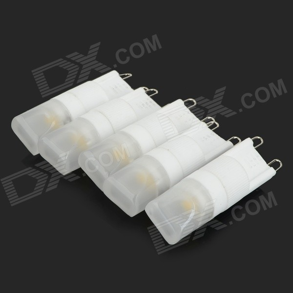 HH-136WW G9 2W LED Warm White Light Lamps - White (AC 220V / 5PCS)