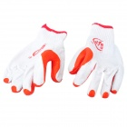 Durable Anti-Slip Working Latex Coated Safety Gloves - White + Red (Pair)