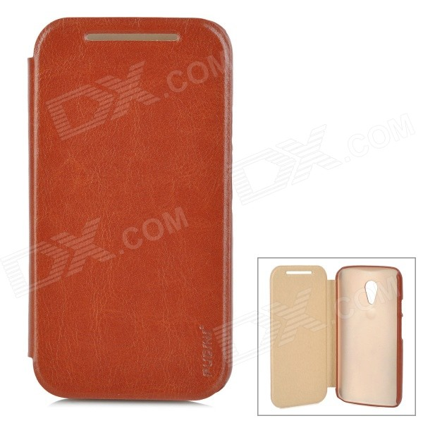 PUDINI WB-LGG2 Flip-Open PU Leather Case for Moto G2 - Brown 10piece 100% new isl6262 isl6262acrz qfn chipset