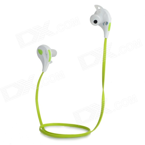 Nameblue T-1 Bluetooth V4.0 In-Ear Music Sports Headphone w/ Mic. - Green + White nameblue st 33 sports bluetooth v4 0 in ear earphone headphone set w microphone volume control