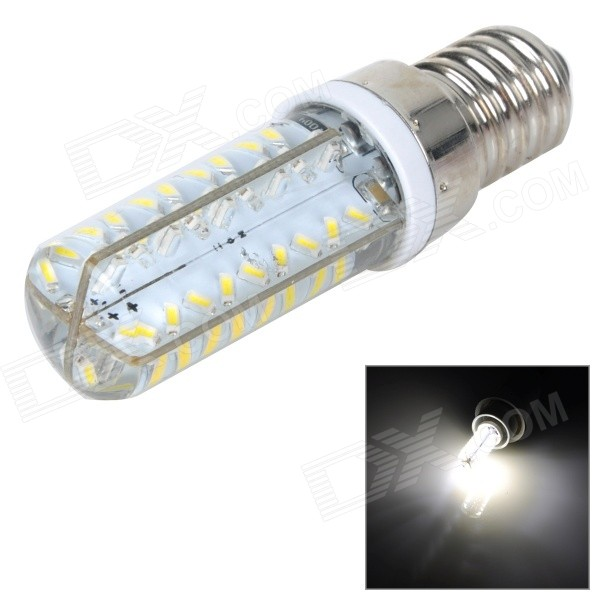 E14 5W 450lm 5500K White 3014 SMD LED Dimming Corn Lamp - White + Silvery Grey (AC 220~240V)