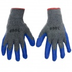 Durable Anti-Slip Working Latex Coated Safety Gloves - Deep Blue + Grey (Pair)