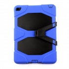 PC-291BB Protective Silicone Shockproof Case w/ Stand for IPAD AIR 2 - Blue + Black