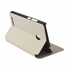 Protective PU Leather Flip Open Case w/ Stand for ASUS Z5 - White