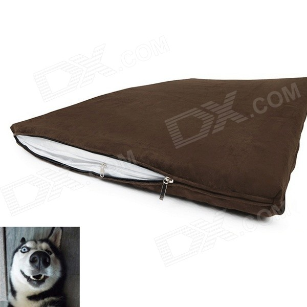YDL-D4004-L Fashionable Ultra Large Cotton Mat Pad for Pet Cat / Dog - Brown + White (Size L) pet carrier bag for cat dog medium size brown