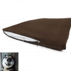 YDL-D4004-L Fashionable Ultra Large Cotton Mat Pad for Pet Cat / Dog - Brown + White (Size L)