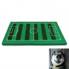 YDL-D4005-S Fashionable Soccer Field Style Mat Pad for Pet Cat / Dog - Green + Brown + White (S)
