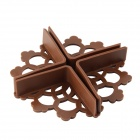 Baby Safety Desk Table Corner Guard Cover - Brown (4 PCS)