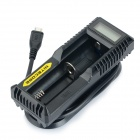 "NITECORE UM10 1"" LCD Lightweight Smart USB Li-ion Battery Charger - Black"