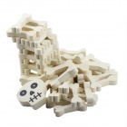 Skeleton Bone Design Wooden Building Blocks Jenga Toy Set for Children - Beige White