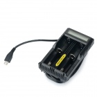 "NITECORE UM20 1.6"" LCD Lightweight Smart USB Dual Li-ion Batteries Charger - Black"