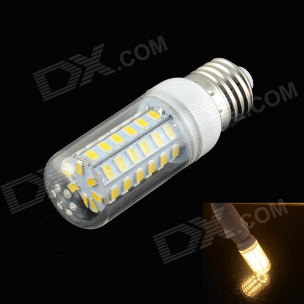 HZLED E27 5W 400lm 3000K 56-SMD 5730 LED Warm White Corn Lamp - White (AC 220~240V) lexing lx r7s 2 5w 410lm 7000k 12 5730 smd white light project lamp beige silver ac 85 265v