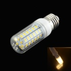 HZLED E27 5W 400lm 3000K 56-SMD 5730 LED Warm White Corn Lamp - White (AC 220~240V)