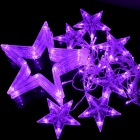 KX-0042 10W 168-LED Strobe Purple Light Christmas Stars Style Decorative String Light (EU Plug,220V)