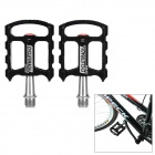 CYCLETRACK CK-1089 Lightweight CNC Aluminum Bicycle Pedals - Black + Silver (2 PCS)