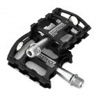 CYCLETRACK CK-109 Lightweight CNC Aluminum Bicycle Pedals - Black + Silver (2 PCS)