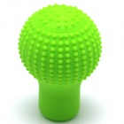 Silicone Rotundity Style Automobile Car Gear Lever Head Cover - Green