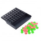 Plastic Intelligent Five-in-a-row Table Game Set - Black + Red + Green