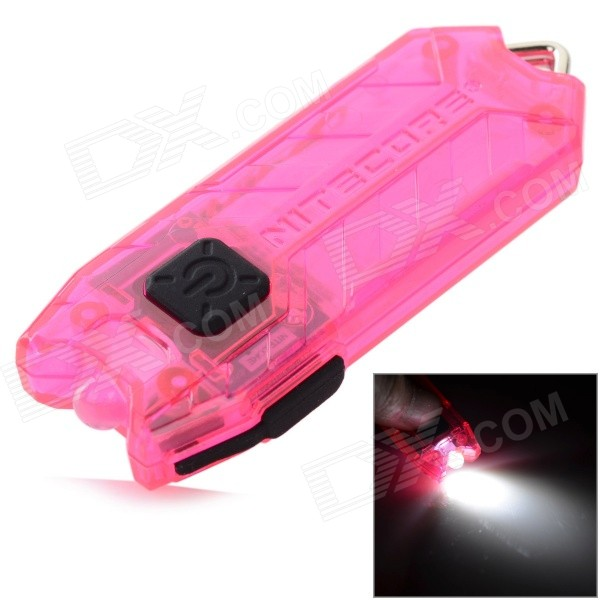 NiteCore TUBE 45lm 2-Mode Stepless Dimming Cool White USB Rechargeable Light Flashlight - Deep Pink nitecore tube usb mini flashlight keychain 2 modes 45lm